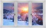 Faux Winter Window Decal Scenes