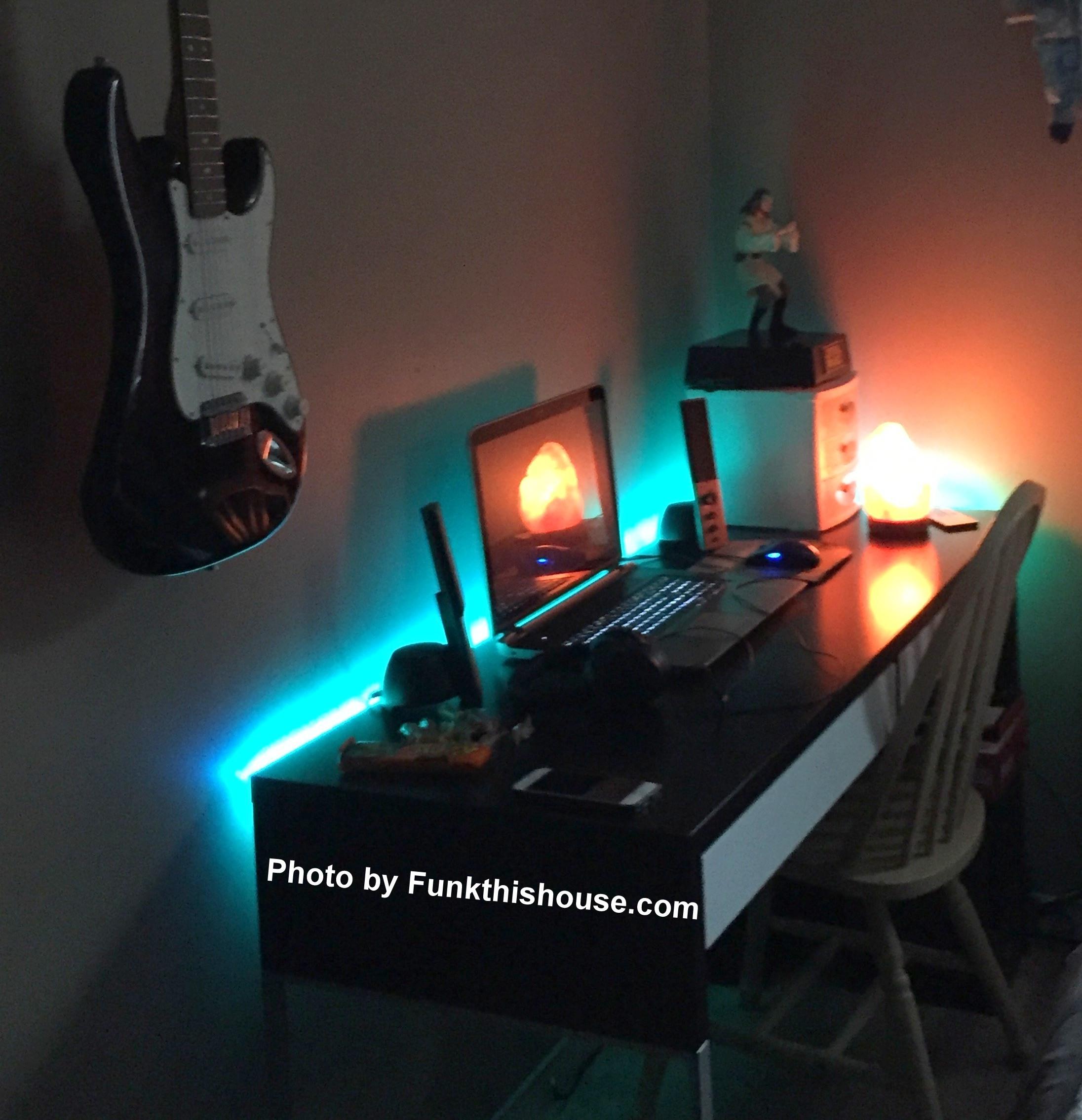 led strip lights easy affordable and funky lighting. Black Bedroom Furniture Sets. Home Design Ideas