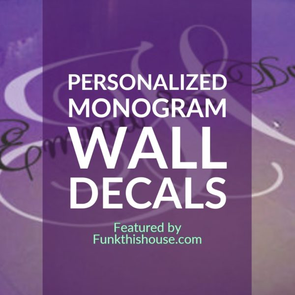 Personalized Monogram Wall Decal