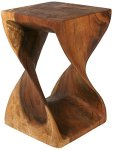 Twisted Wood End Table