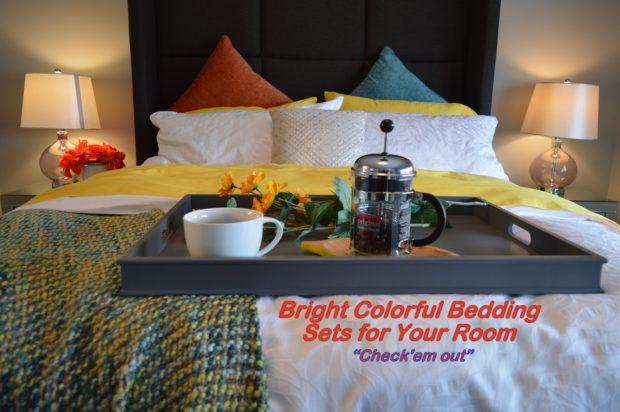 Bright Multi-Colored Bedding Sets