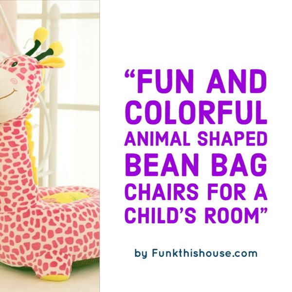 Animal Bean Bag Chairs for the Nursery