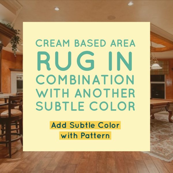 Cream Based Area Rugs in Combo with another Subtle Color