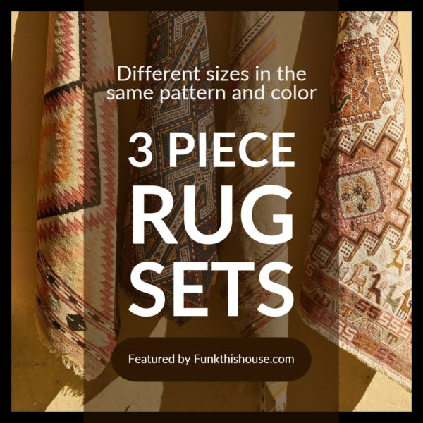 funky 3 piece rug sets various