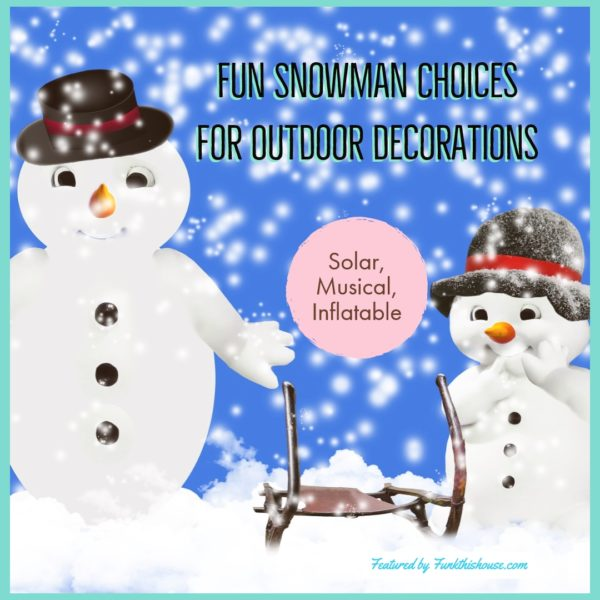 Outdoor Snowman Decor