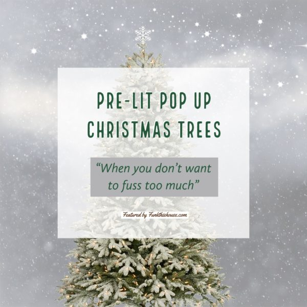 Pre Lit Pull Up Christmas Trees