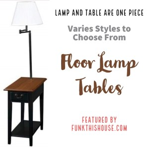 Table with Built-In Floor Lamp