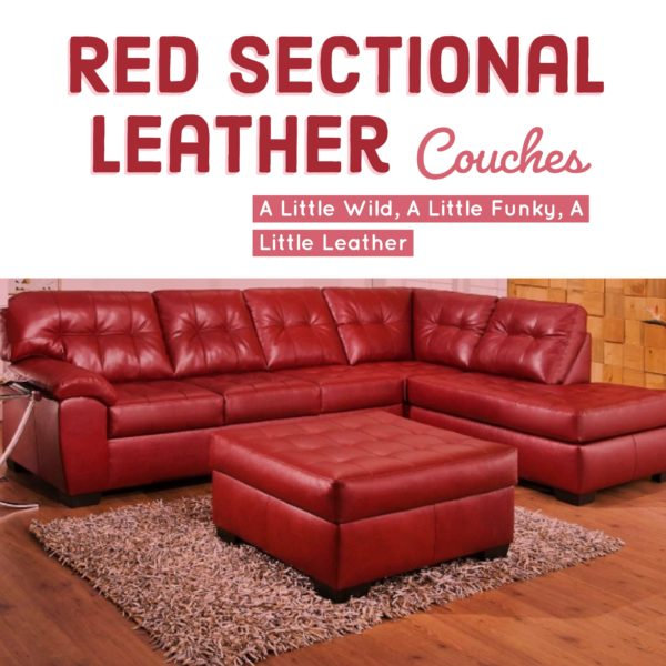 Red Sectional Leather Couches