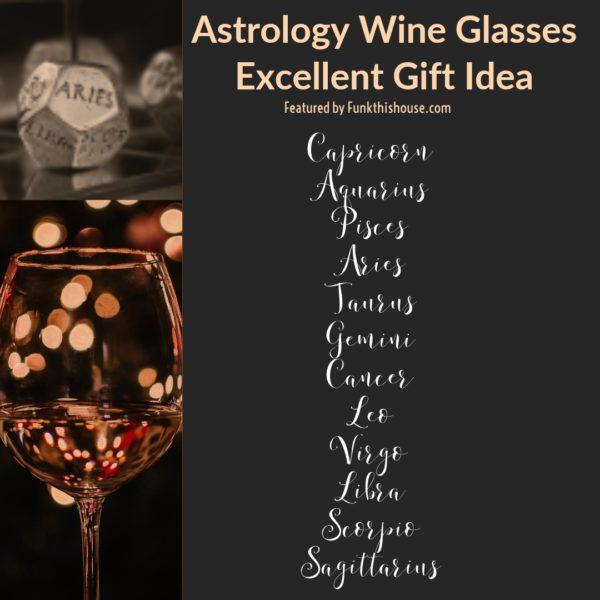 Astrology Wine Glasses