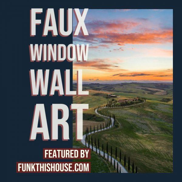 Faux Window Wall Art