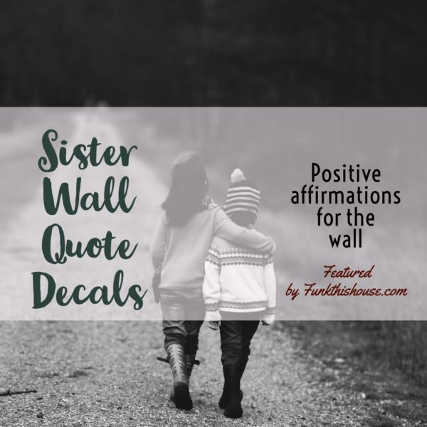 Sister Wall Decal Quotes