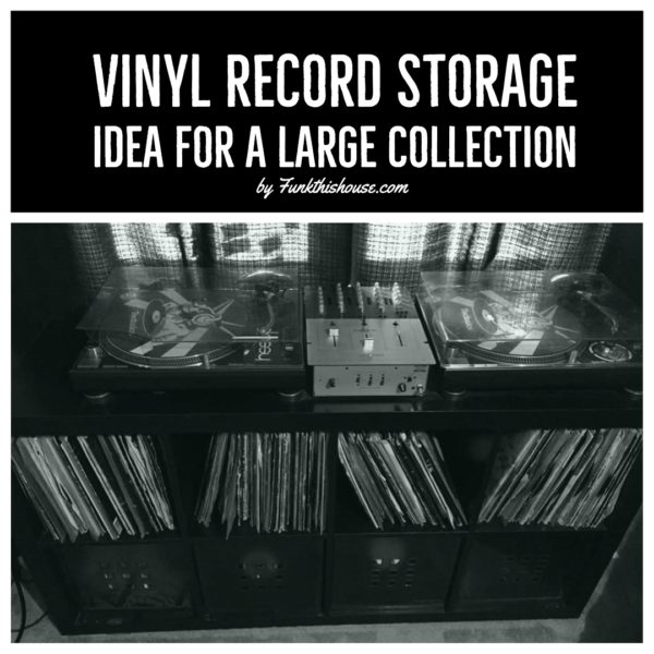Vinyl Record Storage Idea for a Large Collection