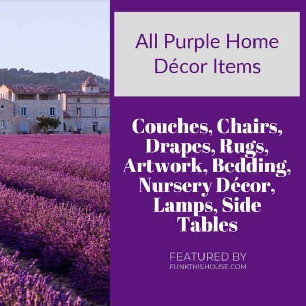 Purple Home Decor Items