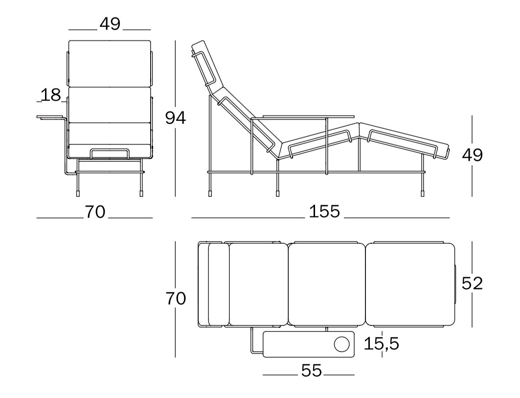Chaise Longue Dimensions Simple Deep With Chaise Longue