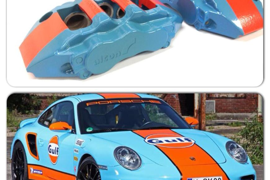 Gulf Livery | Alcon Calipers | Powder Coating Job