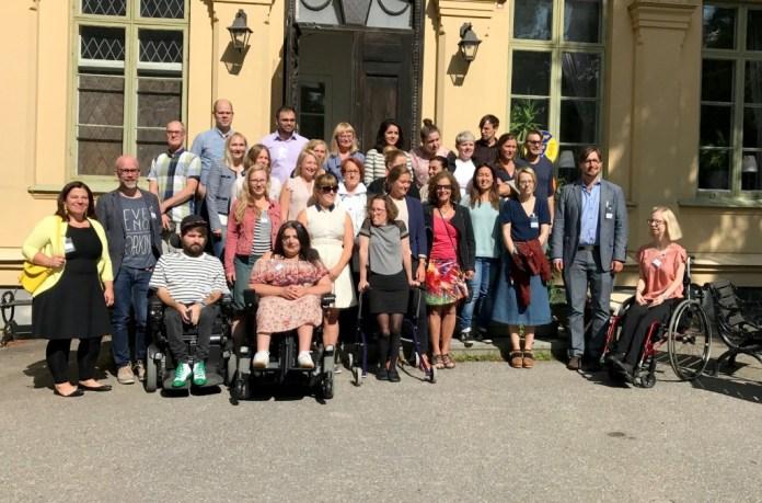 Gruppbild från förra årets sommarskola på Värmdö