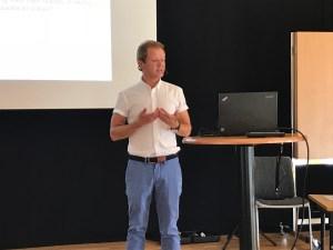 Rune Halvorsen, forskare vid Oslo Metropolitan University, höll ett föredrag om Active Citizenship den 23 augusti.