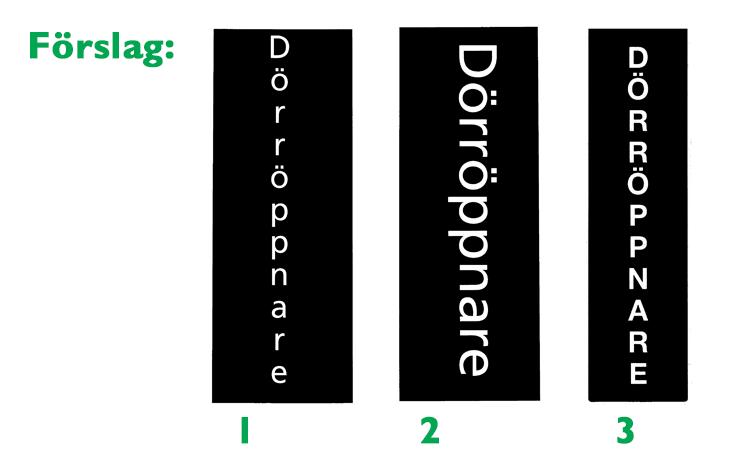 Locums 3 förslag på textlayouter