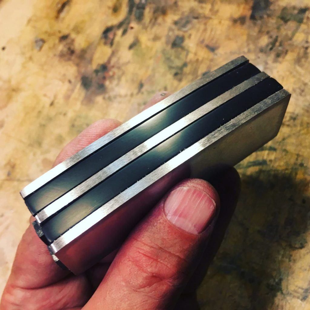 partial assembly of the Funktronic neodymium sidewinder bass pickup