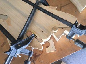 Gluing holly binding to a poplar body