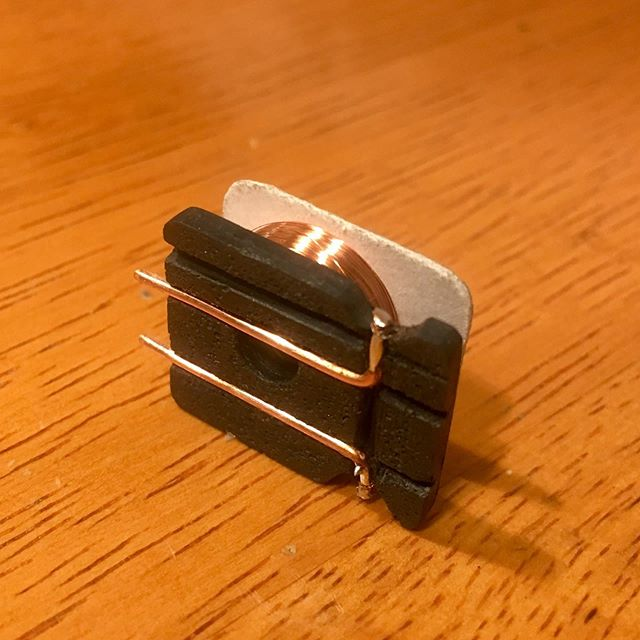 Micro coil with polyurethane bobbin and copper wire