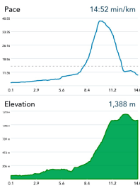 Elevation gain 1250m (4100ft) Starting from the ocean and ending up at the top of Grouse Mountain.