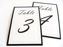 Flat table numbers Vladimir script