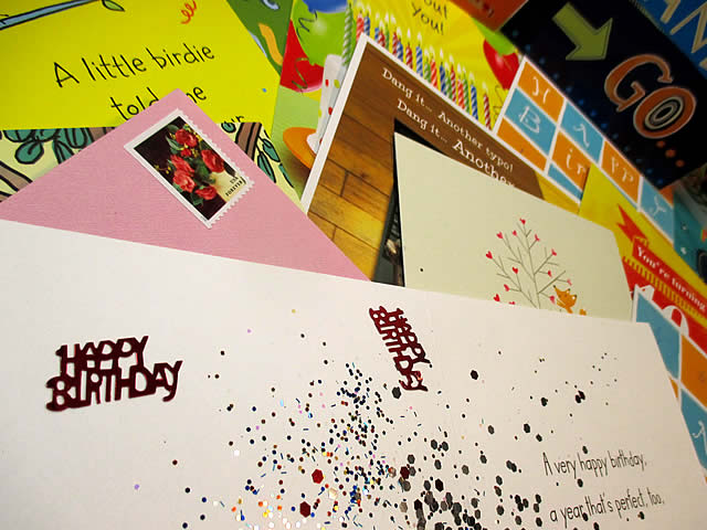 Birthday Card Glitter Bomb