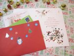 Christmas Card Glitter Bomb with Larger, Easy Cleanup Glitter