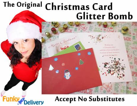 Original Christmas Card Glitter Bomb
