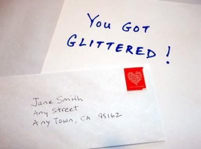 Glitter Letter Prank
