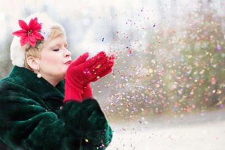 Holiday Glitter and Confetti Cards are FUN