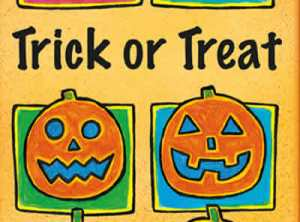Trick or Treat jack o Lantern Halloween Card