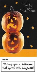 Halloween Pumpkin Glitter Bomb Card