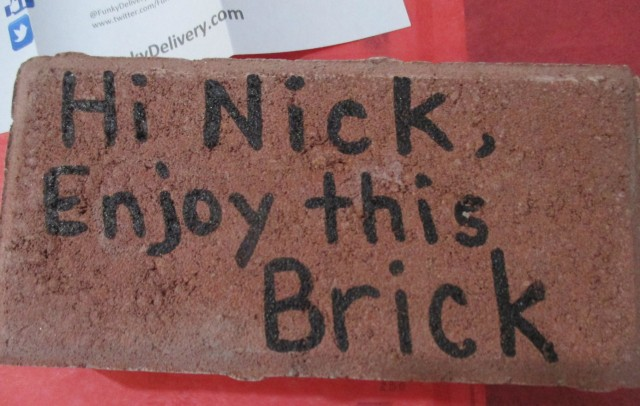 Send a Brick in the Mail - Enjoy this Brick