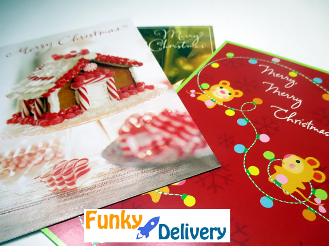 Christmas Card Glitter Bomb Funky Delivery