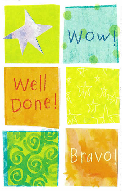 Wow Well Done Bravo Congratulations Card From Funky