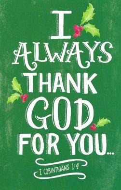 I Always Thank God For You - Christmas Card