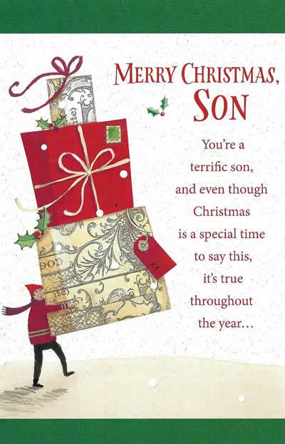 Merry Christmas To You.Merry Christmas Son Christmas Card