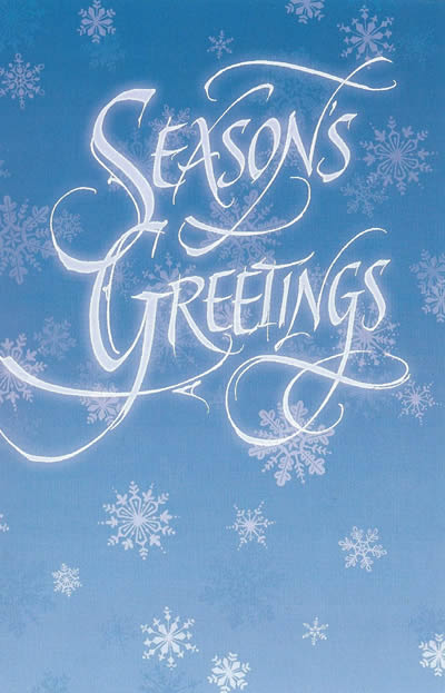 Seasno's Greetings and Happy New Year Holiday Card
