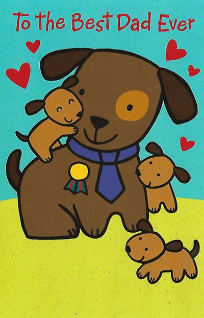 Best Dad Ever Valentine's Day Card - Custom Message