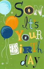 Son It's Your Birthday Card - Glitter Bomb and More