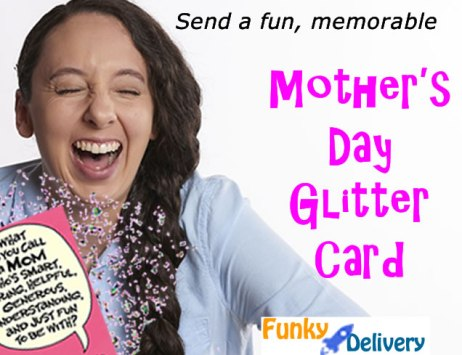 Mother's Day Glitter Bomb Card - Fun Mothers Day Card