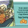 Vampire Halloween Card - Plus Halloween Glitter Bomb