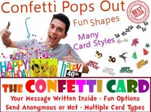Fun Confetti Card = Exploding Confetti Card