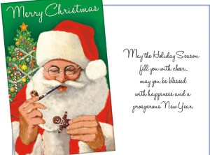 Santa Card with Christmas Blessings