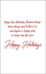 Holiday Message for a Dear Son - Custom Holiday Card