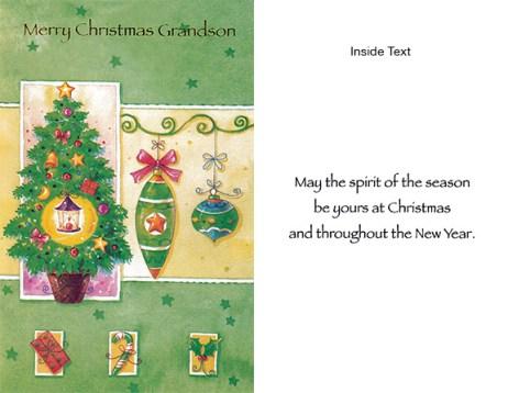 Merry Christmas Grandsom Spirit of Christmas Card