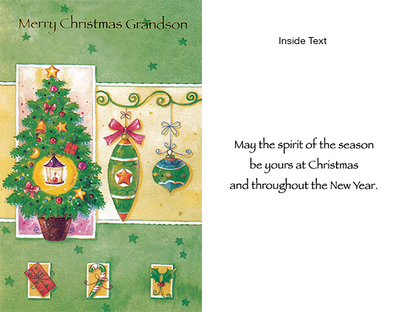 Merry Christmas Grandsom Spirit of Christmas Card