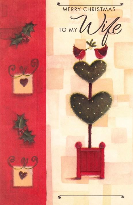 Custom Merry Christmas to my Wife Christmas Card